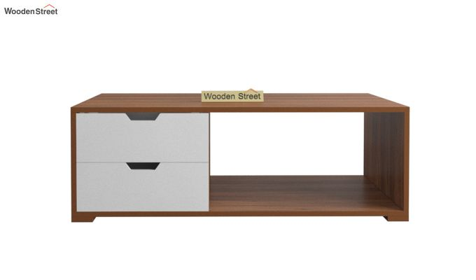 Gwen Coffee Table with Frosty White Drawer (Exotic Teak Finish)-3