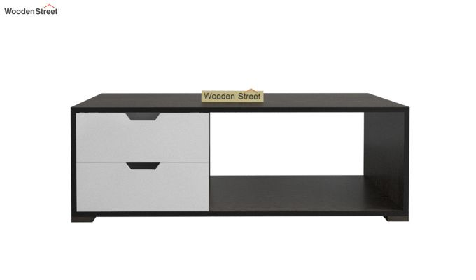 Gwen Coffee Table with Frosty White Drawer (Flowery Wenge Finish)-3