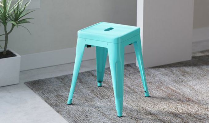 Alyssa Bar Stool (Cyan Blue)-1