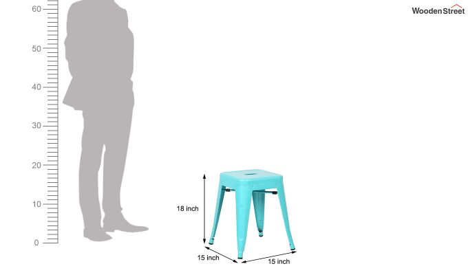 Alyssa Bar Stool (Cyan Blue)-4