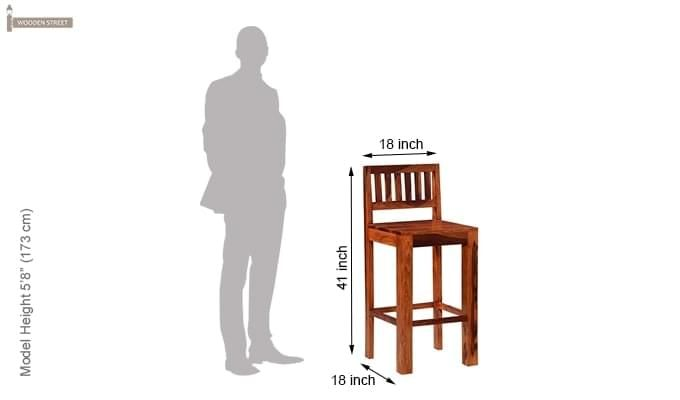 Benton Bar Chair (Honey Finish)-5