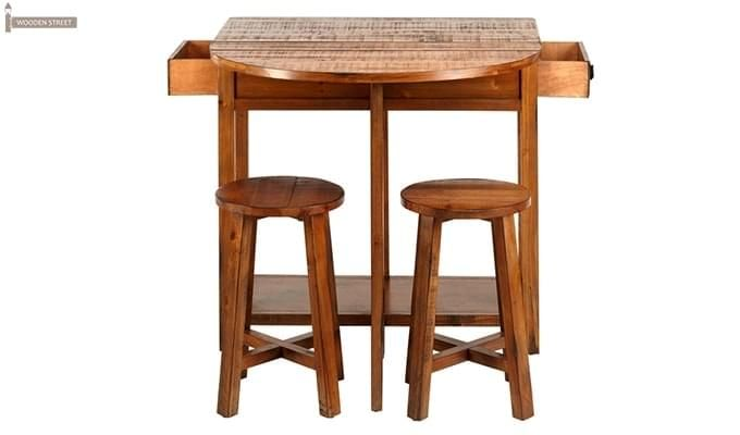Darton Bar Table Set (Honey Finish)-1