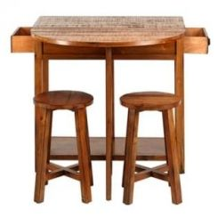 Darton Bar Table Set (Honey Finish)