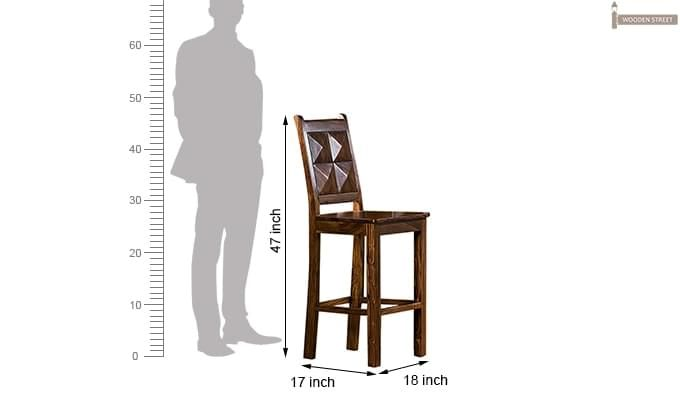 Gerard Bar Stool (Teak Finish)-2