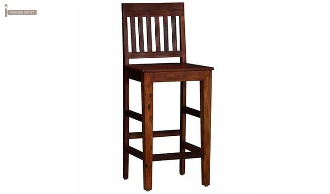 Kieron Bar Stool (Teak Finish)-1