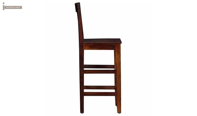 Kieron Bar Stool (Teak Finish)-3