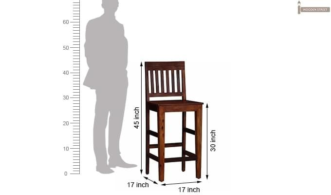 Kieron Bar Stool (Teak Finish)-5
