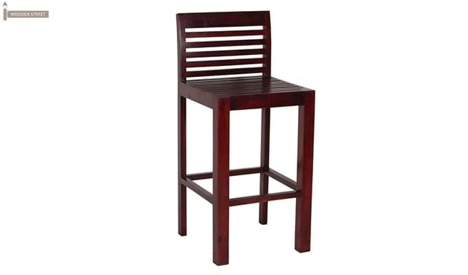 Onika Bar Chair (Mahogany Finish)-2