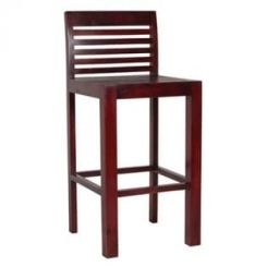 Onika Bar Chair (Mahogany Finish)