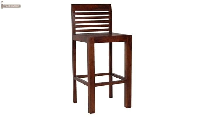 Onika Bar Chair (Teak Finish)-1