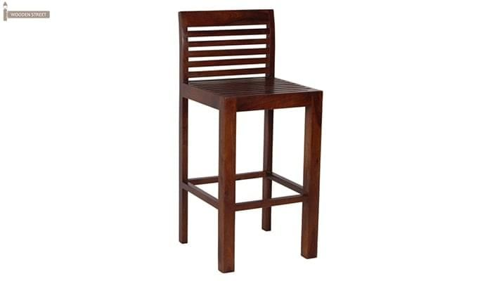 Onika Bar Chair (Teak Finish)-2