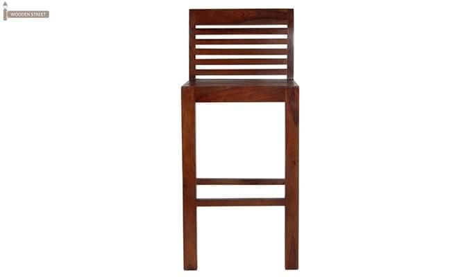 Onika Bar Chair (Teak Finish)-3
