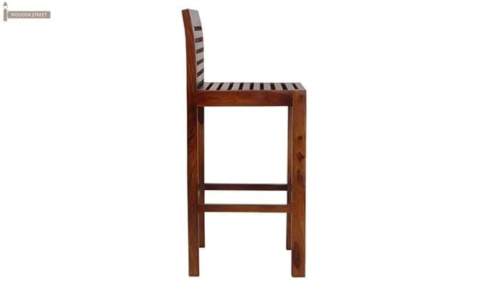 Onika Bar Chair (Teak Finish)-4