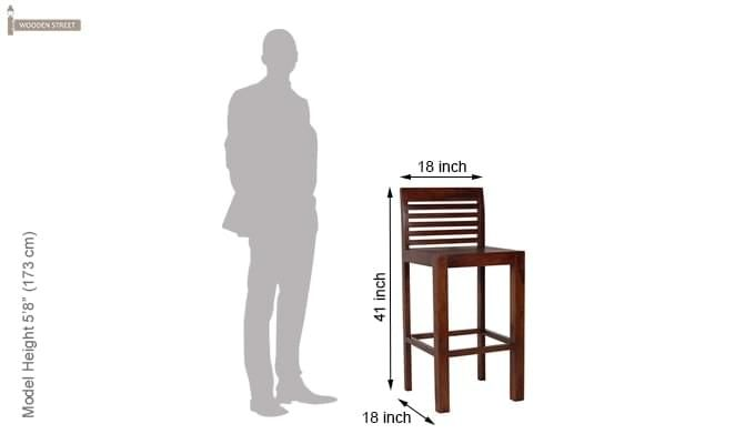 Onika Bar Chair (Teak Finish)-5