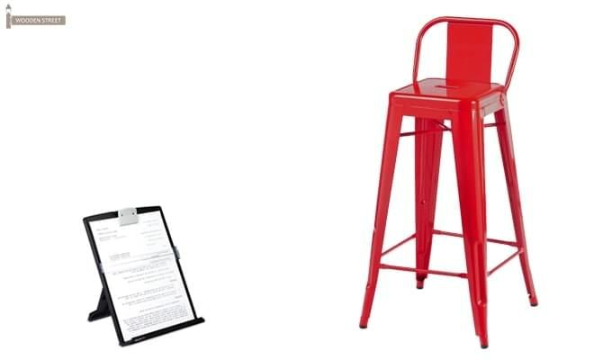 Torup Bar Stool (Red)-1