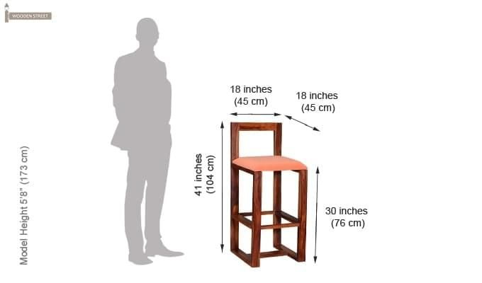 Vig Bar Chair (Teak Finish)-5