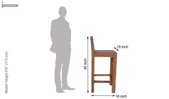 Walter Bar Chair (Teak Finish)-3