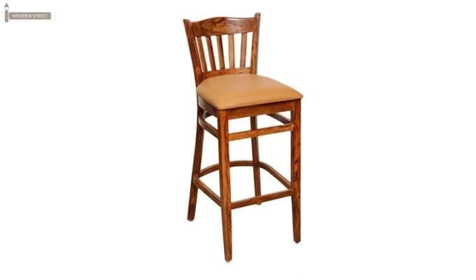 Zarra Bar Chair (Teak Finish)-1