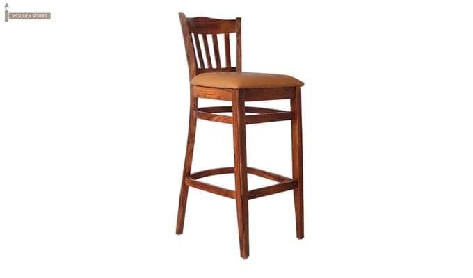 Zarra Bar Chair (Teak Finish)-2