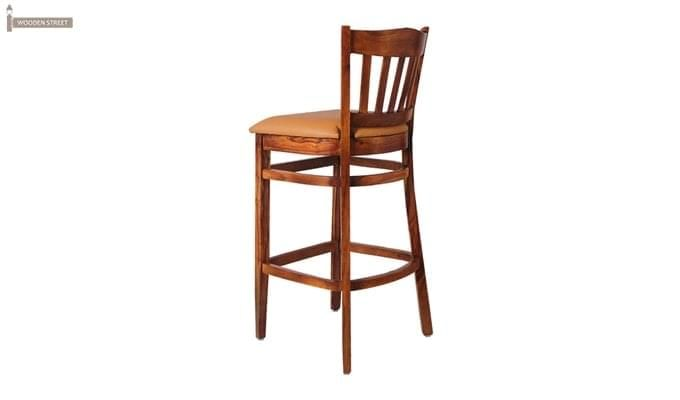 Zarra Bar Stool (Teak Finish)-3