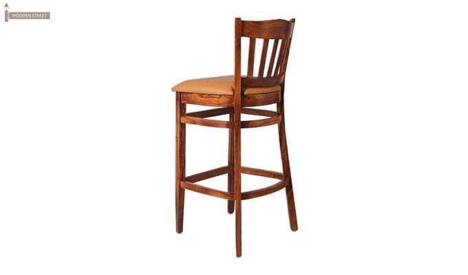 Zarra Bar Chair (Teak Finish)-3