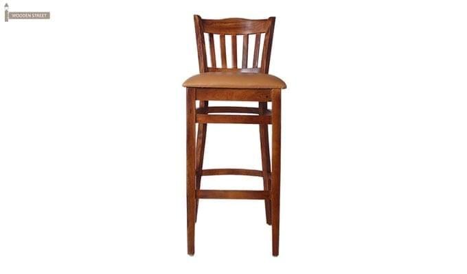Zarra Bar Chair (Teak Finish)-4