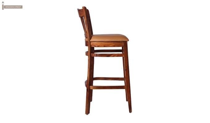 Zarra Bar Chair (Teak Finish)-5
