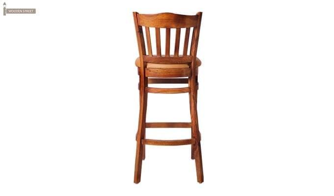 Zarra Bar Chair (Teak Finish)-6
