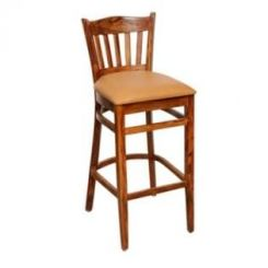 Zarra Bar Stool (Teak Finish)