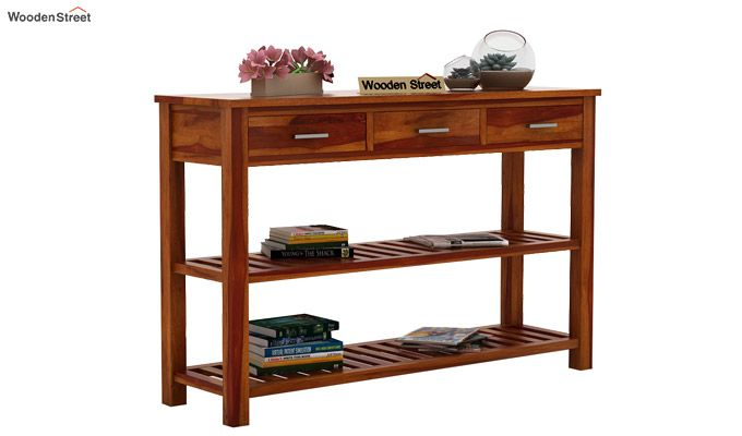 Abacus Console Table (Honey Finish)-2