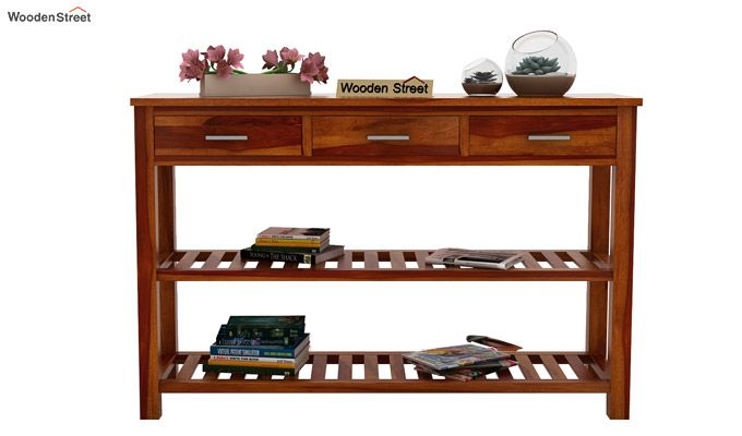 Abacus Console Table (Honey Finish)-3