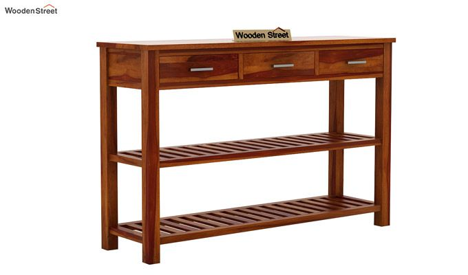 Abacus Console Table (Honey Finish)-5