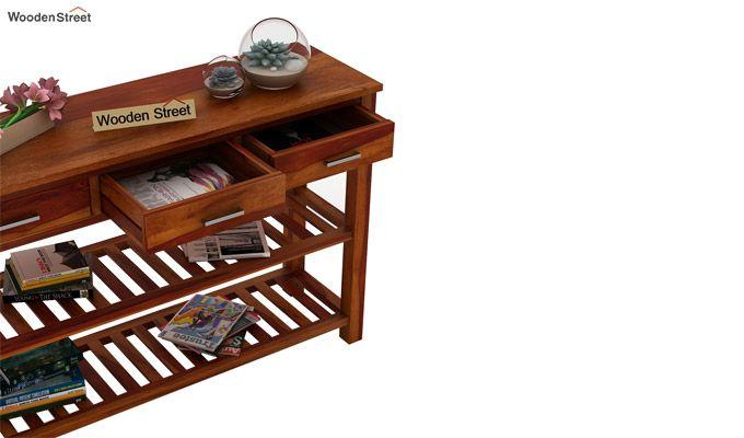 Abacus Console Table (Honey Finish)-4