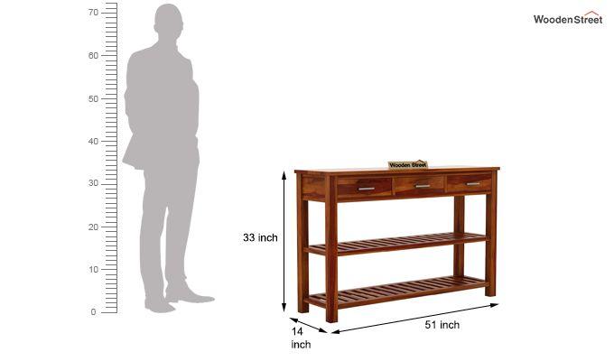 Abacus Console Table (Honey Finish)-6
