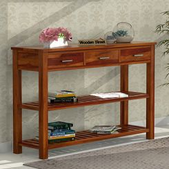 Abacus Console Table (Honey Finish)