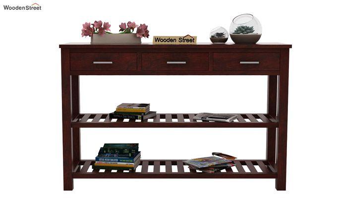 Abacus Console Table (Mahogany Finish)-2