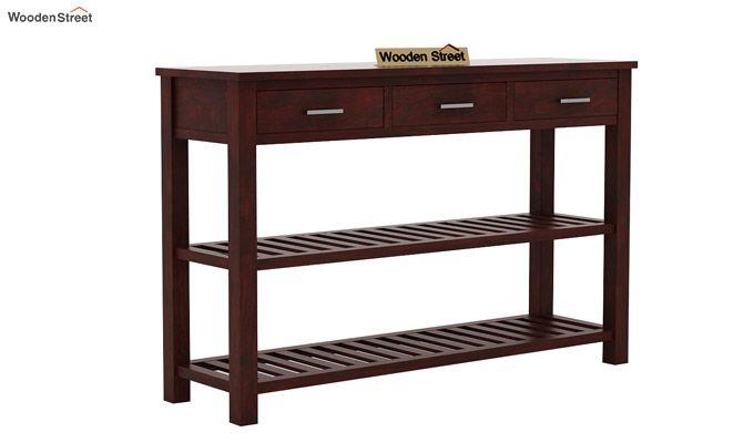 Abacus Console Table (Mahogany Finish)-4
