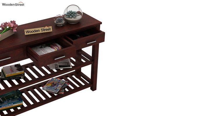 Abacus Console Table (Mahogany Finish)-3