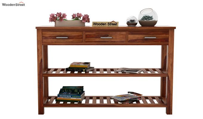 Abacus Console Table (Teak Finish)-2