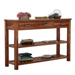 Abacus Console Table (Teak Finish)
