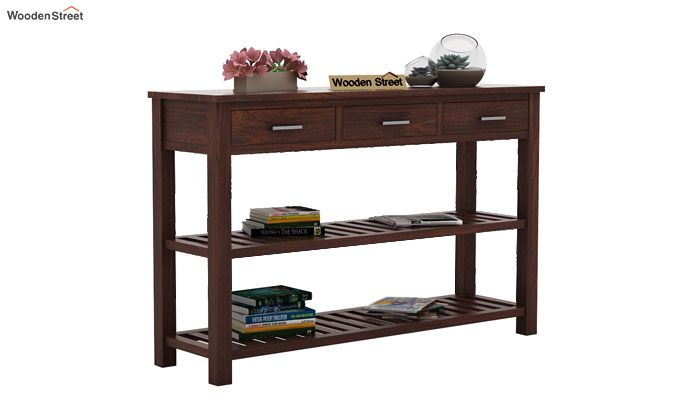 Abacus Console Table (Walnut Finish)-1