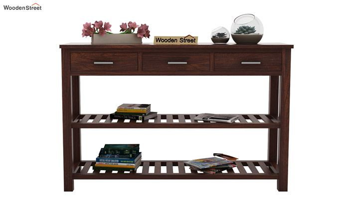 Abacus Console Table (Walnut Finish)-2