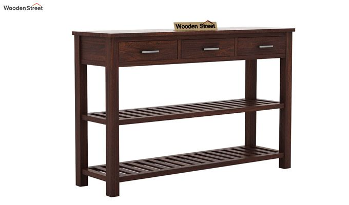 Abacus Console Table (Walnut Finish)-4