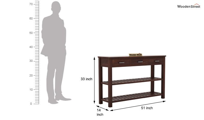 Abacus Console Table (Walnut Finish)-5