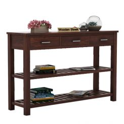 Abacus Console Table (Walnut Finish)
