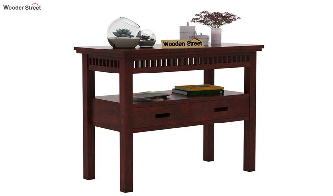 Adolph Console Table With Storage (Mahogany Finish)-1