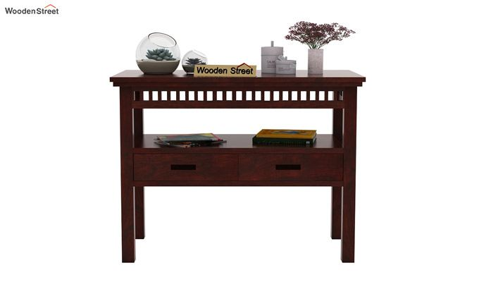 Adolph Console Table With Storage (Mahogany Finish)-2