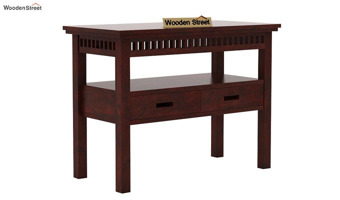 Adolph Console Table With Storage (Mahogany Finish)-4