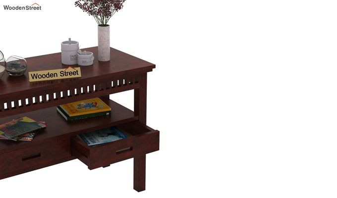 Adolph Console Table With Storage (Mahogany Finish)-3
