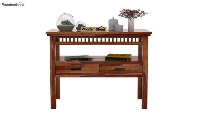 Adolph Console Table With Storage (Teak Finish)-2